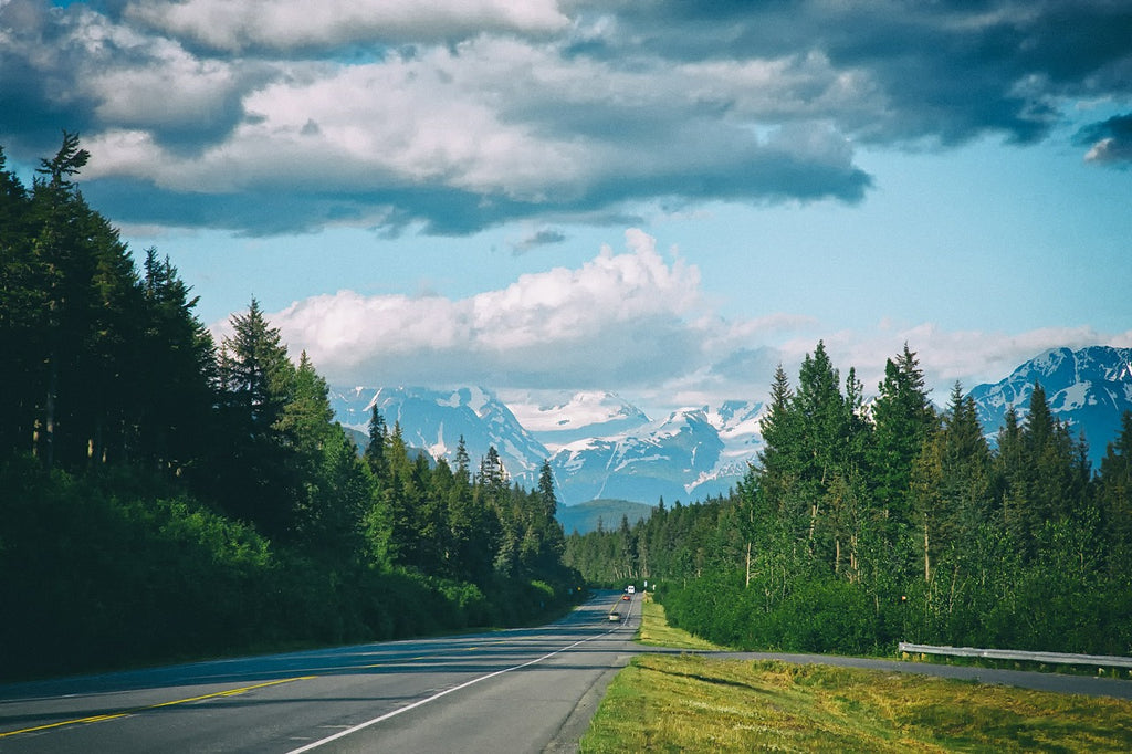 Alaska Highway, USA America Road trip