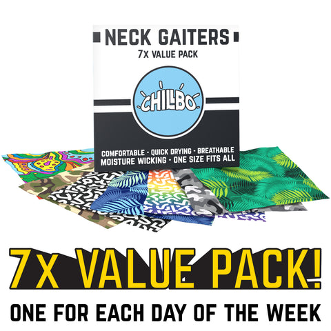 Neck Gaiters 7x Value Pack