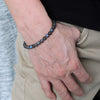 Rare 5A Labradorite Healing Gemstone Bracelet with S925 Sterling Silver Chain & Clasp - Handmade by Gem & Silver BR1303