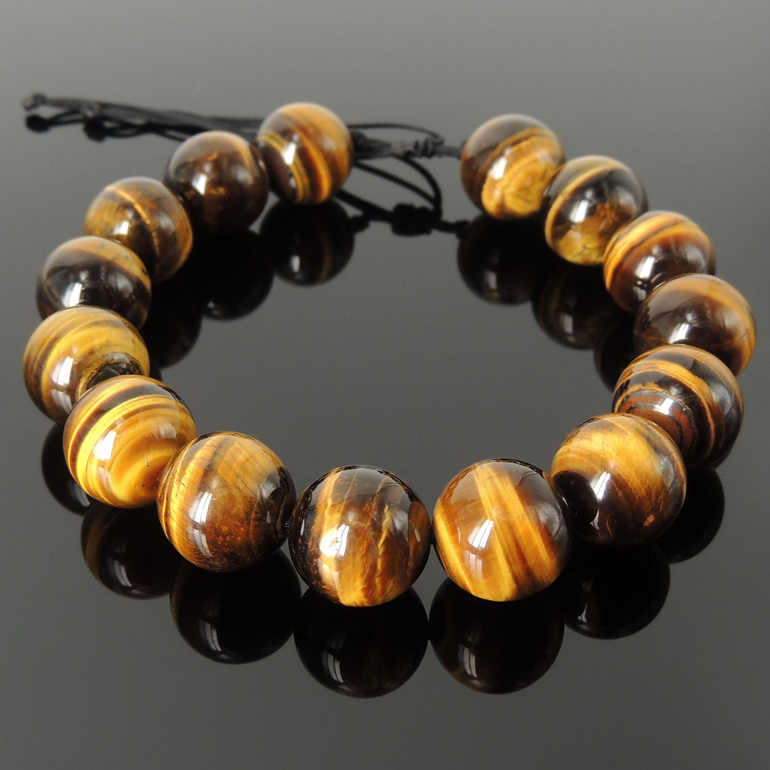 JB-0249A Teens and Girls Ankle Bracelet Fashion Jewelry for Women MGD Small Anklets Dark Brown Tiger Eye Color Bead and Brass Bell Anklet Beautiful Handmade Brass Flower Anklet