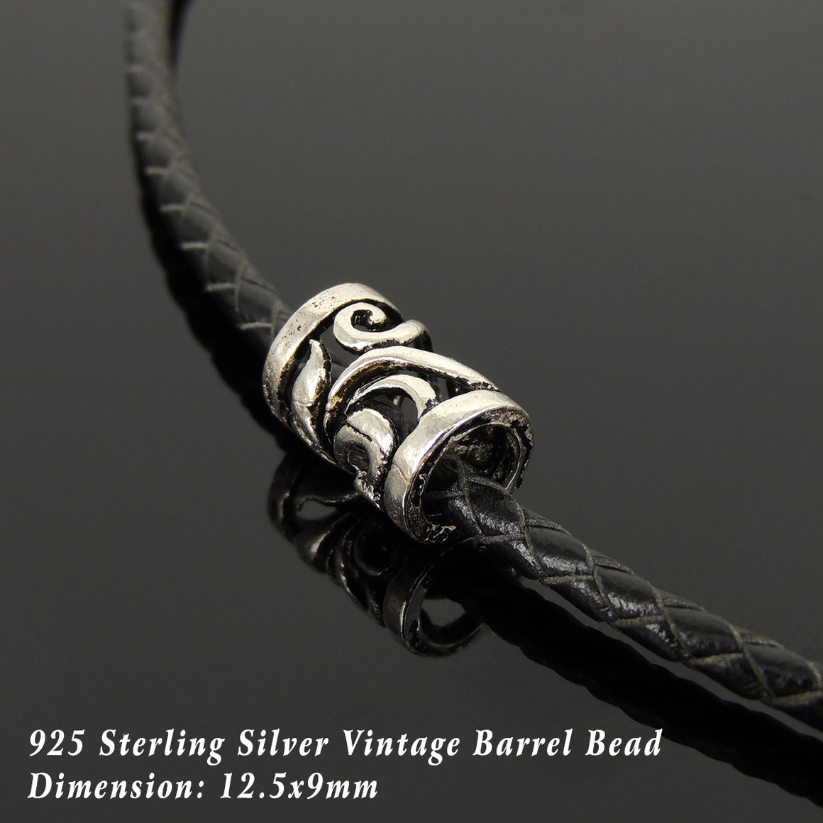 Handmade Vintage Celtic 90's Choker Necklace - Authentic Turkish Black Leather for Men's Women's Casual Style with Sterling Silver 925 (non-plated) Toggle S-Clasp NK212