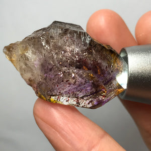 21.7g Beautifully Vibrant Purple Rare Super Seven Crystal | Highest Clarity Healing Scepter Quartz |  Balancing Energizing Reiki Pocket Crystal Protection | Sacred 7 Chakra Healing