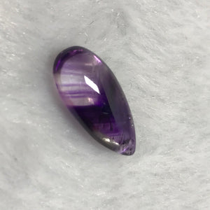 Extremely Rare Super Seven Amethyst Rutile with Natural Chevron Pattern | Handmade Teardrop Pendant | Genuine Polished Mineral Lepidocrocite | 7 Chakra Healing