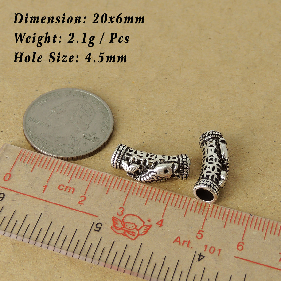 Custom Design Genuine Non-plated 925 Sterling Silver - Japanese Koi Fish Charm for DIY Jewelry Making WSP566X1