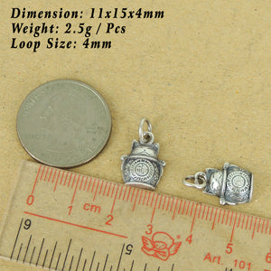 1 PC Lucky Cat Maneki Neko Pendant Charm | Blessing Protection Attraction of Wealth Unique DIY Jewelry Parts | Genuine 925 Sterling Silver with 925 Stamp 福 招财进宝