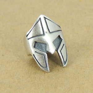 1 PC Silver Warrior Protection Bead - S925 Sterling Silver WSP420X1
