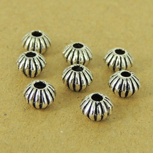 8 PCS Lantern Spacer Beads - S925 Sterling Silver WSP472X8
