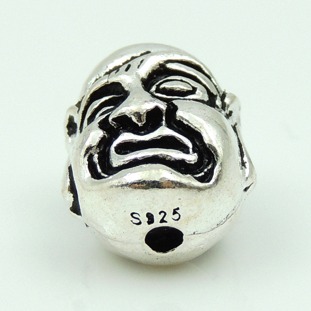 1 PC Double-Sided Protective Buddha Head - Genuine S925 Sterling Silver