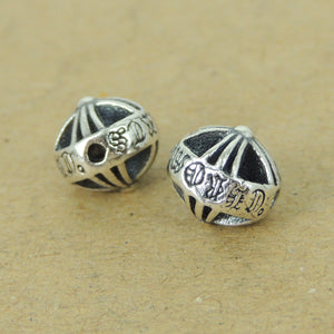 2 PCS Double-Sided Round Celtic Cross Beads - S925 Sterling Silver WSP440X2