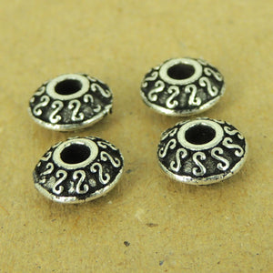 4 PCS Celtic Disk Spacers - S925 Sterling Silver - Wholesale by Gem & Silver WSP462X4