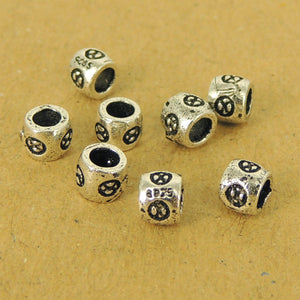 8 PCS Alchemy Barrel Beads - S925 Sterling Silver WSP500X8