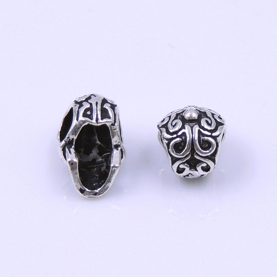 4 PCS Day of the Dead Inspired Tribute Skulls - S925 Sterling Silver WSP211X4