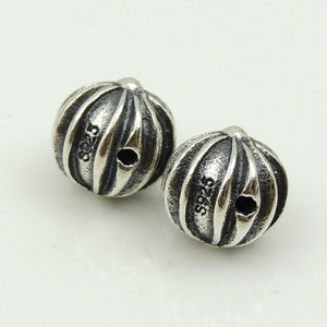 2 PCS Round Celtic Cross Beads - S925 Sterling Silver - Wholesale by Gem & Silver WSP186X2