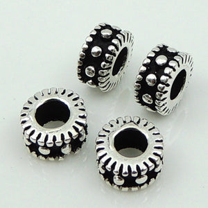 6 PCS Artisan Spacer Beads - S925 Sterling Silver WSP118X6