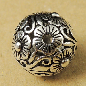 S925 Sterling Silver 14x14mm Vintage Celtic Round Bead Charm WSP018 Wholesale Retail