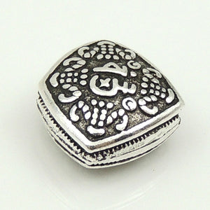 1 PC Oxidized Lucky Vintage Chinese Charm - Genuine S925 Sterling Silver