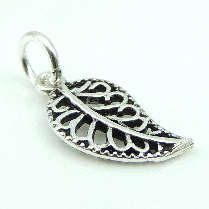 2 PCS Carefree Leaf Pendant Charm - S925 Sterling Silver WSP156X2