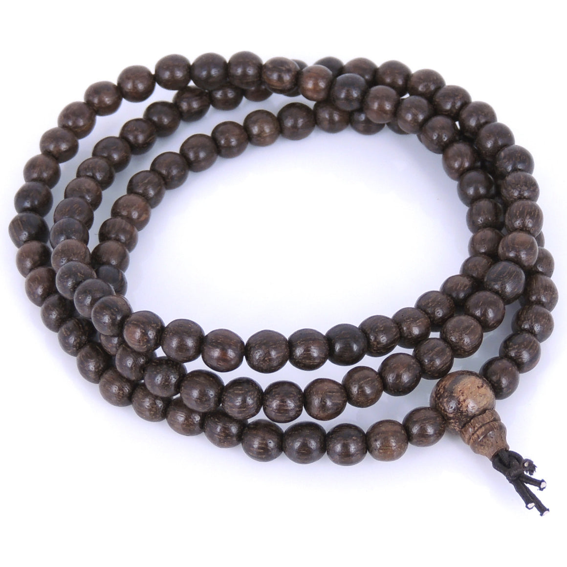 6.5mm Red Vietnamese Agarwood Bracelet/Necklace 108 Beads for Meditation - Gem & Silver AWB009