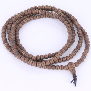 5mm Vietnamese Agarwood 216 Beads Bracelet/Necklace for Meditation - Gem & Silver AW001