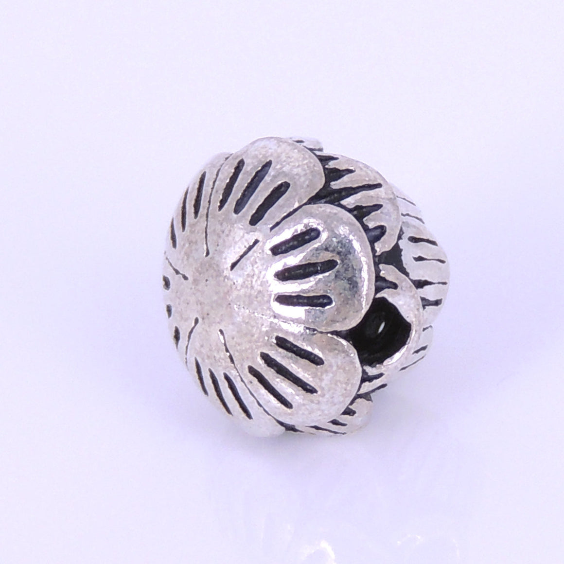 1 PC Vintage Serenity Lotus Bead - S925 Sterling Silver WSP288X1