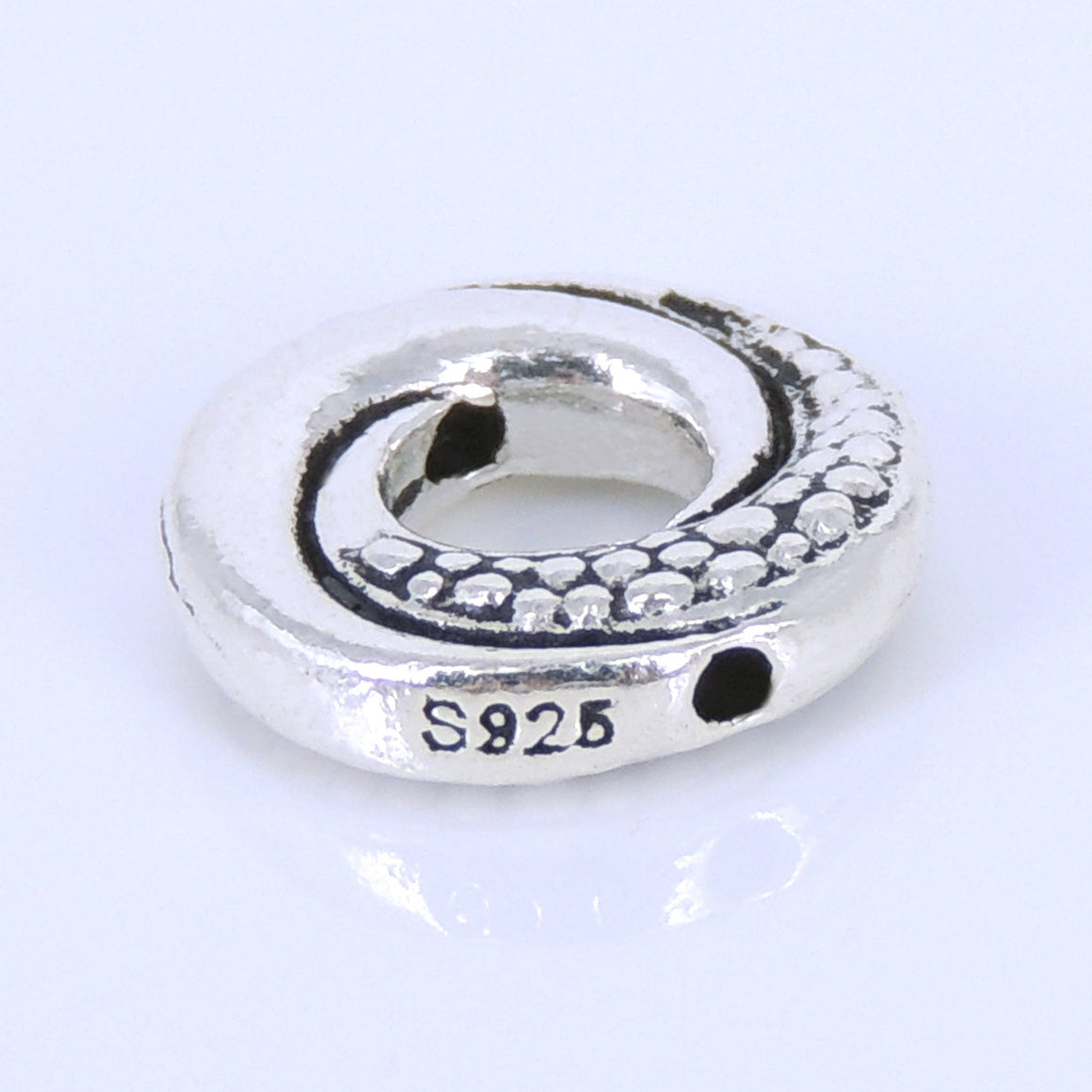 1 PC Snake Tail Donut Charm - S925 Sterling Silver WSP289X1
