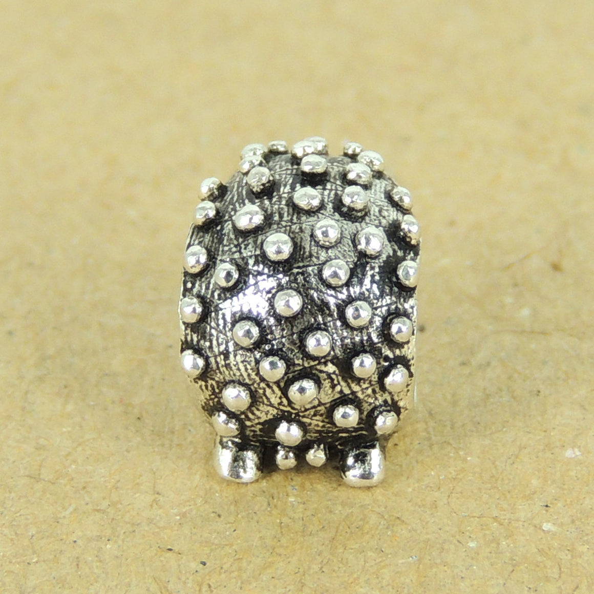 1 PC Cute Hedgehog Charm - S925 Sterling Silver WSP319X1