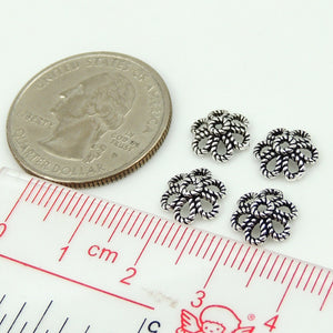 8 PCS Flower Bead Caps - S925 Sterling Silver WSP177X8