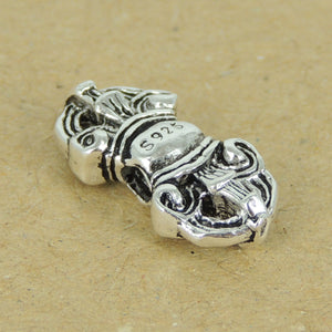 2 PCS Vintage Prayer Protection Charms - S925 Sterling Silver WSP335X2