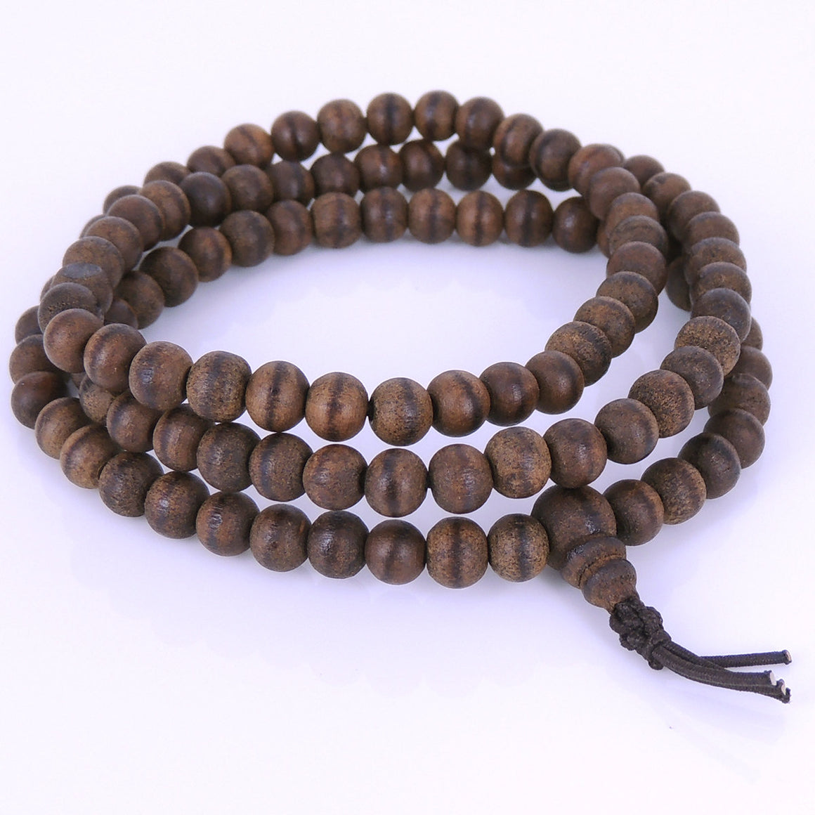 6mm Grade AA Vietnamese Agarwood Bracelet/Necklace 108 Beads for Meditation - Gem & Silver AW007
