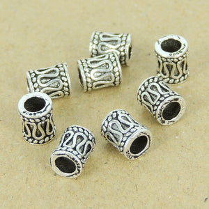 8 PCS Decorative Celtic Barrel Beads - S925 Sterling Silver WSP350X8