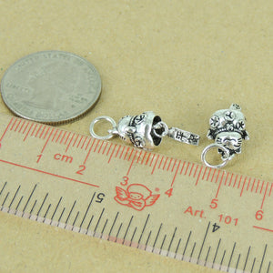 925 Sterling Silver Maneki Neko Lucky Cat Pendant Best Gift Protection Wealth with 925 Stamp Japanese Popular Design Custom Jewelry Silver Parts