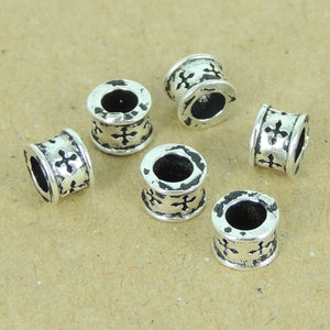 6 PCS Gothic Celtic Cross Beads - S925 Sterling Silver WSP381X6