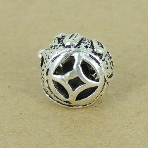 1 PC Happy Sitting Buddha Bead - Genuine S925 Sterling Silver