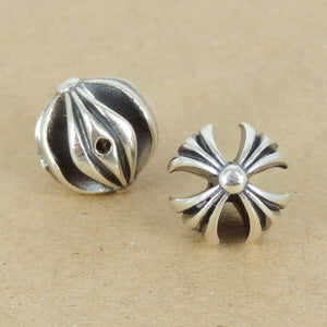 2 PCS Cross Charms - S925 Sterling Silver WSP428X2