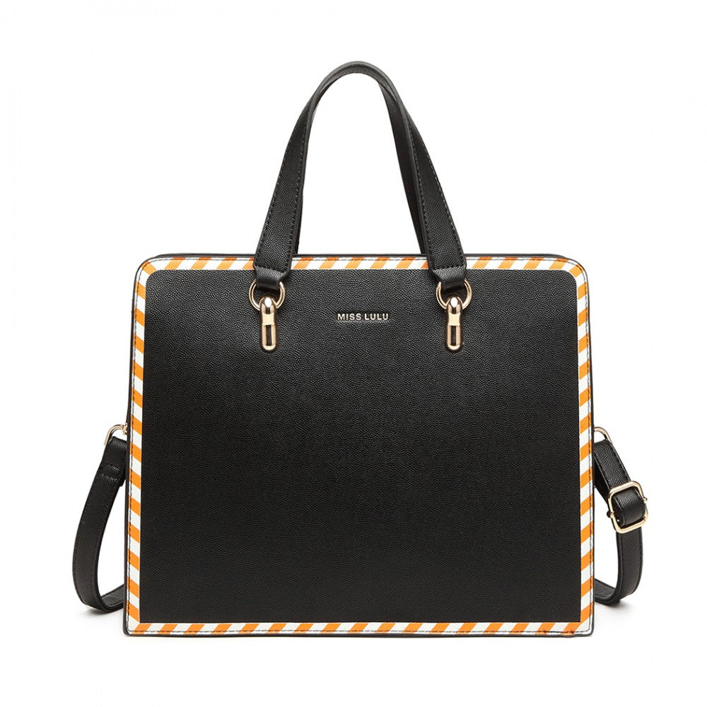 MISS LULU TWO TONE 2 PIECE SHOULDER BAG SET
