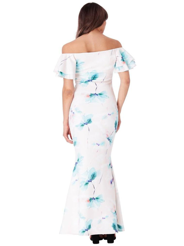 FLORENCE OFF THE SHOULDER FLORAL MAXI DRESS - Fashion Trendz