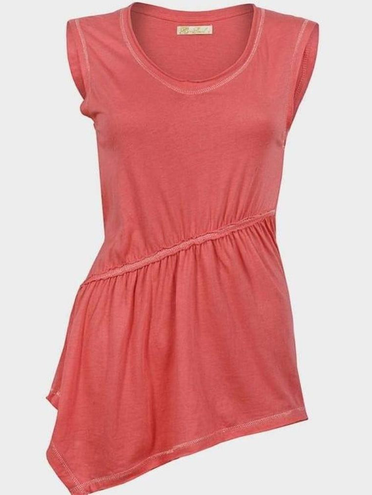 BRAVE SOUL LADIES SLEEVELESS TOP CORAL - Fashion Trendz
