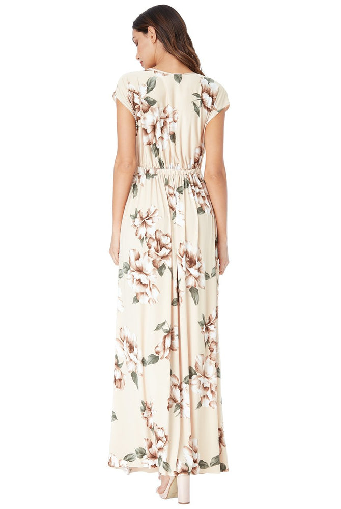 EFFIE FLORAL PRINT WRAP MAXI DRESS - Fashion Trendz