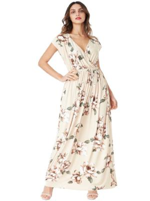 EFFIE FLORAL PRINT WRAP MAXI DRESS