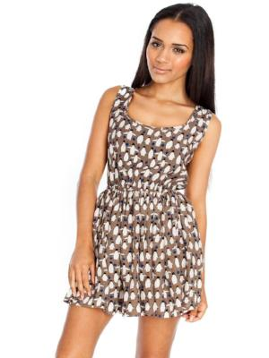 ESME CONVERSATIONAL PRINT DRESS