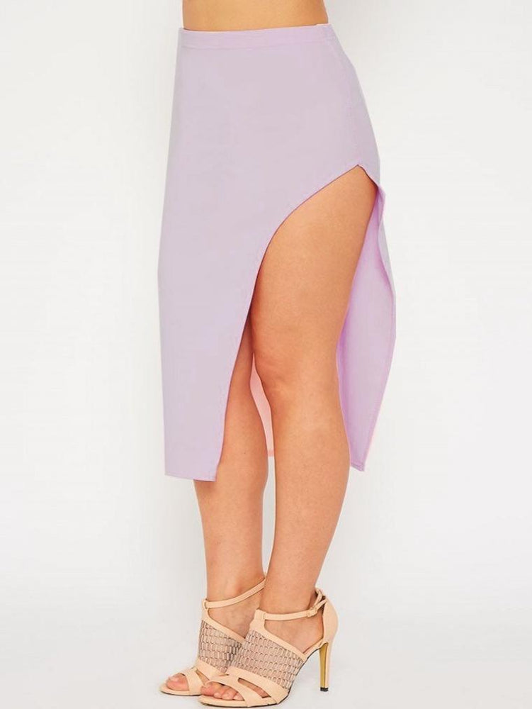 HOLLIE HIGH SIDE SLIT BODYCON FIT SKIRTS ICE BLUE