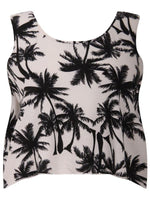 PALM TREE CROP TOP BLACK