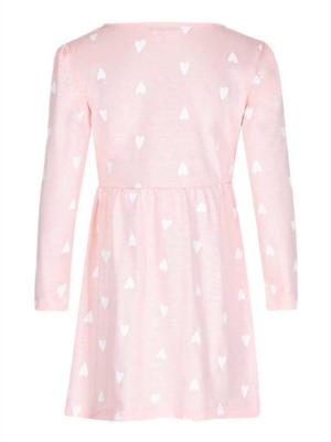SUGAR SQUAD HEART PRINT DRESS PINK - Fashion Trendz