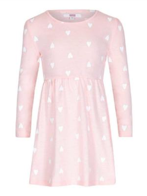 SUGAR SQUAD HEART PRINT DRESS PINK