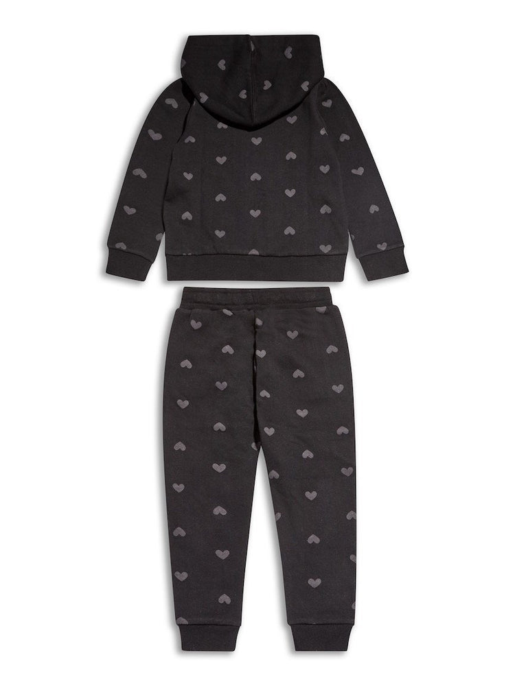 Sugar Squad Heart Print Tracksuit - Tracksuit
