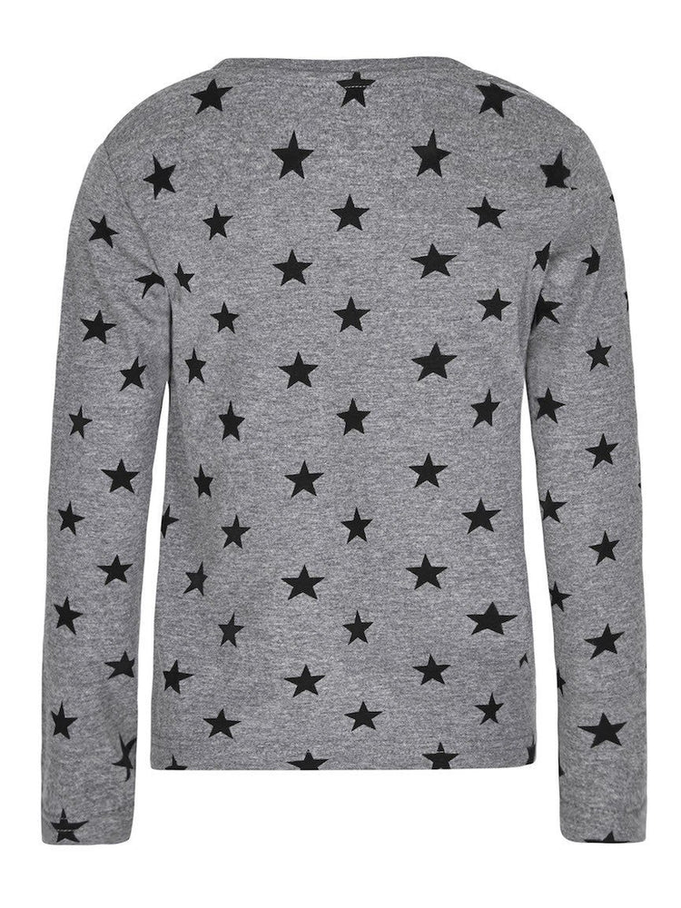 SUGAR SQUAD LONG SLEEVE TOP GREY - Fashion Trendz