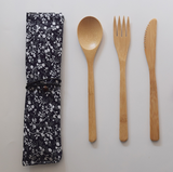 Reusable Bamboo Cutlery Travel Gift Set