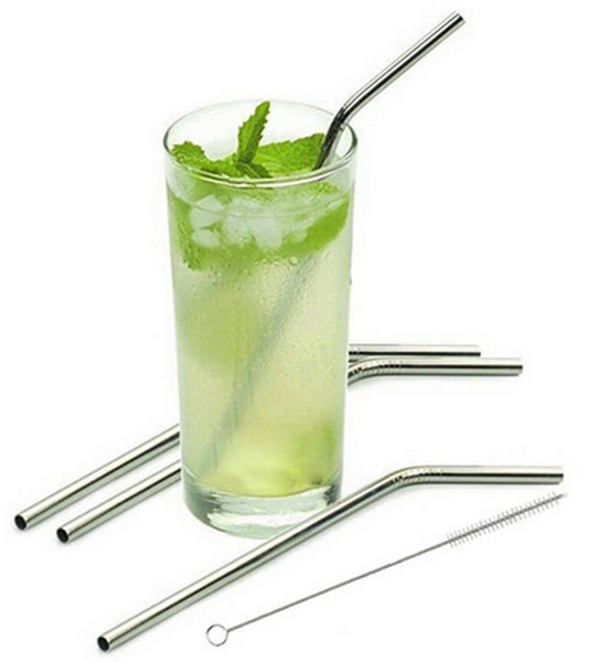 eco friendy straws - reusable straws - stainless steel reusable straws