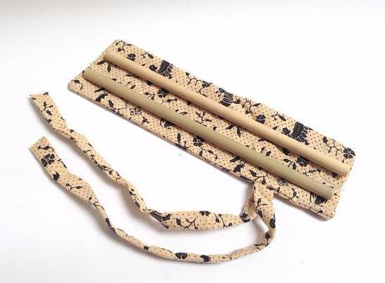 Reusable bamboo straws + travel bag