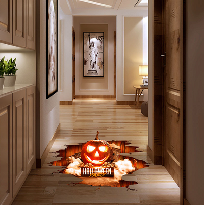 Halloween 3D Stickers View Scary Pumpkin